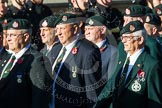 Remembrance Sunday at the Cenotaph in London 2014: Group A9 - Royal Green Jackets Association. Press stand opposite the Foreign Office building, Whitehall, London SW1, London, Greater London, United Kingdom, on 09 November 2014 at 12:01, image #1181