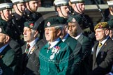 Remembrance Sunday at the Cenotaph in London 2014: Group A9 - Royal Green Jackets Association. Press stand opposite the Foreign Office building, Whitehall, London SW1, London, Greater London, United Kingdom, on 09 November 2014 at 12:01, image #1193