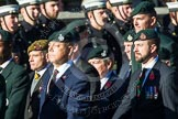 Remembrance Sunday at the Cenotaph in London 2014: Group A9 - Royal Green Jackets Association. Press stand opposite the Foreign Office building, Whitehall, London SW1, London, Greater London, United Kingdom, on 09 November 2014 at 12:01, image #1195