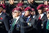 Remembrance Sunday at the Cenotaph in London 2014: Group A10 - Parachute Regimental Association. Press stand opposite the Foreign Office building, Whitehall, London SW1, London, Greater London, United Kingdom, on 09 November 2014 at 12:02, image #1233