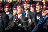 Remembrance Sunday at the Cenotaph in London 2014: Group A10 - Parachute Regimental Association. Press stand opposite the Foreign Office building, Whitehall, London SW1, London, Greater London, United Kingdom, on 09 November 2014 at 12:02, image #1235
