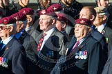 Remembrance Sunday at the Cenotaph in London 2014: Group A10 - Parachute Regimental Association. Press stand opposite the Foreign Office building, Whitehall, London SW1, London, Greater London, United Kingdom, on 09 November 2014 at 12:02, image #1237