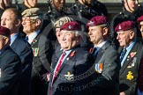 Remembrance Sunday at the Cenotaph in London 2014: Group A10 - Parachute Regimental Association. Press stand opposite the Foreign Office building, Whitehall, London SW1, London, Greater London, United Kingdom, on 09 November 2014 at 12:02, image #1238