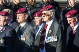 Remembrance Sunday at the Cenotaph in London 2014: Group A10 - Parachute Regimental Association. Press stand opposite the Foreign Office building, Whitehall, London SW1, London, Greater London, United Kingdom, on 09 November 2014 at 12:02, image #1239