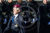 Remembrance Sunday at the Cenotaph in London 2014: Group A10 - Parachute Regimental Association. Press stand opposite the Foreign Office building, Whitehall, London SW1, London, Greater London, United Kingdom, on 09 November 2014 at 12:02, image #1241