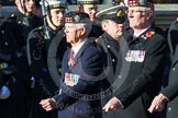 Remembrance Sunday at the Cenotaph in London 2014: Group A11 - Royal Scots Regimental Association. Press stand opposite the Foreign Office building, Whitehall, London SW1, London, Greater London, United Kingdom, on 09 November 2014 at 12:02, image #1243