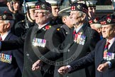 Remembrance Sunday at the Cenotaph in London 2014: Group A11 - Royal Scots Regimental Association. Press stand opposite the Foreign Office building, Whitehall, London SW1, London, Greater London, United Kingdom, on 09 November 2014 at 12:02, image #1244