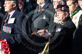 Remembrance Sunday at the Cenotaph in London 2014: Group A11 - Royal Scots Regimental Association. Press stand opposite the Foreign Office building, Whitehall, London SW1, London, Greater London, United Kingdom, on 09 November 2014 at 12:02, image #1245