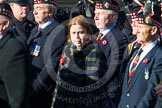 Remembrance Sunday at the Cenotaph in London 2014: Group A11 - Royal Scots Regimental Association. Press stand opposite the Foreign Office building, Whitehall, London SW1, London, Greater London, United Kingdom, on 09 November 2014 at 12:02, image #1246