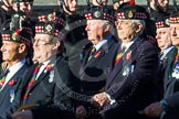 Remembrance Sunday at the Cenotaph in London 2014: Group A11 - Royal Scots Regimental Association. Press stand opposite the Foreign Office building, Whitehall, London SW1, London, Greater London, United Kingdom, on 09 November 2014 at 12:02, image #1248