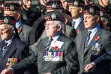 Remembrance Sunday at the Cenotaph in London 2014: Group A12 - King's Own Scottish Borderers. Press stand opposite the Foreign Office building, Whitehall, London SW1, London, Greater London, United Kingdom, on 09 November 2014 at 12:02, image #1256