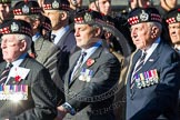 Remembrance Sunday at the Cenotaph in London 2014: Group A12 - King's Own Scottish Borderers. Press stand opposite the Foreign Office building, Whitehall, London SW1, London, Greater London, United Kingdom, on 09 November 2014 at 12:02, image #1257