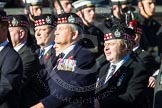 Remembrance Sunday at the Cenotaph in London 2014: Group A12 - King's Own Scottish Borderers. Press stand opposite the Foreign Office building, Whitehall, London SW1, London, Greater London, United Kingdom, on 09 November 2014 at 12:02, image #1261