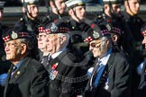 Remembrance Sunday at the Cenotaph in London 2014: Group A12 - King's Own Scottish Borderers. Press stand opposite the Foreign Office building, Whitehall, London SW1, London, Greater London, United Kingdom, on 09 November 2014 at 12:02, image #1266