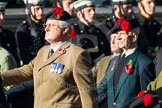 Remembrance Sunday at the Cenotaph in London 2014: Group A13 - Black Watch Association. Press stand opposite the Foreign Office building, Whitehall, London SW1, London, Greater London, United Kingdom, on 09 November 2014 at 12:02, image #1270