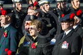 Remembrance Sunday at the Cenotaph in London 2014: Group A13 - Black Watch Association. Press stand opposite the Foreign Office building, Whitehall, London SW1, London, Greater London, United Kingdom, on 09 November 2014 at 12:02, image #1272