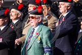 Remembrance Sunday at the Cenotaph in London 2014: Group A13 - Black Watch Association. Press stand opposite the Foreign Office building, Whitehall, London SW1, London, Greater London, United Kingdom, on 09 November 2014 at 12:02, image #1273