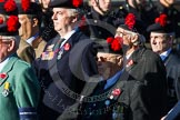 Remembrance Sunday at the Cenotaph in London 2014: Group A13 - Black Watch Association. Press stand opposite the Foreign Office building, Whitehall, London SW1, London, Greater London, United Kingdom, on 09 November 2014 at 12:02, image #1274