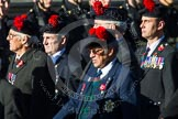 Remembrance Sunday at the Cenotaph in London 2014: Group A13 - Black Watch Association. Press stand opposite the Foreign Office building, Whitehall, London SW1, London, Greater London, United Kingdom, on 09 November 2014 at 12:02, image #1275
