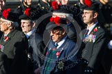 Remembrance Sunday at the Cenotaph in London 2014: Group A13 - Black Watch Association. Press stand opposite the Foreign Office building, Whitehall, London SW1, London, Greater London, United Kingdom, on 09 November 2014 at 12:02, image #1276