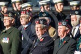 Remembrance Sunday at the Cenotaph in London 2014: Group A14 - Gordon Highlanders Association. Press stand opposite the Foreign Office building, Whitehall, London SW1, London, Greater London, United Kingdom, on 09 November 2014 at 12:03, image #1281