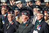 Remembrance Sunday at the Cenotaph in London 2014: Group A14 - Gordon Highlanders Association. Press stand opposite the Foreign Office building, Whitehall, London SW1, London, Greater London, United Kingdom, on 09 November 2014 at 12:03, image #1282