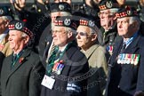 Remembrance Sunday at the Cenotaph in London 2014: Group A14 - Gordon Highlanders Association. Press stand opposite the Foreign Office building, Whitehall, London SW1, London, Greater London, United Kingdom, on 09 November 2014 at 12:03, image #1283