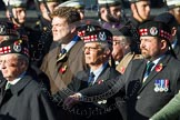 Remembrance Sunday at the Cenotaph in London 2014: Group A14 - Gordon Highlanders Association. Press stand opposite the Foreign Office building, Whitehall, London SW1, London, Greater London, United Kingdom, on 09 November 2014 at 12:03, image #1286