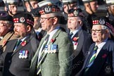 Remembrance Sunday at the Cenotaph in London 2014: Group A14 - Gordon Highlanders Association. Press stand opposite the Foreign Office building, Whitehall, London SW1, London, Greater London, United Kingdom, on 09 November 2014 at 12:03, image #1288