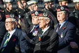 Remembrance Sunday at the Cenotaph in London 2014: Group A14 - Gordon Highlanders Association. Press stand opposite the Foreign Office building, Whitehall, London SW1, London, Greater London, United Kingdom, on 09 November 2014 at 12:03, image #1290
