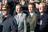 Remembrance Sunday at the Cenotaph in London 2014: Group A18 - Coldstream Guards Association. Press stand opposite the Foreign Office building, Whitehall, London SW1, London, Greater London, United Kingdom, on 09 November 2014 at 12:03, image #1321