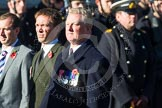 Remembrance Sunday at the Cenotaph in London 2014: Group A18 - Coldstream Guards Association. Press stand opposite the Foreign Office building, Whitehall, London SW1, London, Greater London, United Kingdom, on 09 November 2014 at 12:03, image #1322