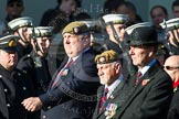 Remembrance Sunday at the Cenotaph in London 2014: Group A19 - Scots Guards Association, led by Major H M Snow. Press stand opposite the Foreign Office building, Whitehall, London SW1, London, Greater London, United Kingdom, on 09 November 2014 at 12:03, image #1323