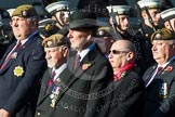 Remembrance Sunday at the Cenotaph in London 2014: Group A19 - Scots Guards Association. Press stand opposite the Foreign Office building, Whitehall, London SW1, London, Greater London, United Kingdom, on 09 November 2014 at 12:03, image #1324