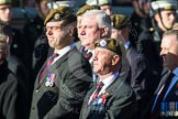 Remembrance Sunday at the Cenotaph in London 2014: Group A19 - Scots Guards Association. Press stand opposite the Foreign Office building, Whitehall, London SW1, London, Greater London, United Kingdom, on 09 November 2014 at 12:03, image #1327