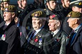 Remembrance Sunday at the Cenotaph in London 2014: Group A19 - Scots Guards Association. Press stand opposite the Foreign Office building, Whitehall, London SW1, London, Greater London, United Kingdom, on 09 November 2014 at 12:03, image #1331
