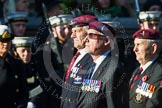 Remembrance Sunday at the Cenotaph in London 2014: Group A20 - Guards Parachute Association. Press stand opposite the Foreign Office building, Whitehall, London SW1, London, Greater London, United Kingdom, on 09 November 2014 at 12:04, image #1334