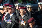 Remembrance Sunday at the Cenotaph in London 2014: Group A20 - Guards Parachute Association. Press stand opposite the Foreign Office building, Whitehall, London SW1, London, Greater London, United Kingdom, on 09 November 2014 at 12:04, image #1335