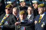 Remembrance Sunday at the Cenotaph in London 2014: Group A23 - Royal East Kent Regiment (The Buffs) Past & Present Association. Press stand opposite the Foreign Office building, Whitehall, London SW1, London, Greater London, United Kingdom, on 09 November 2014 at 12:04, image #1358