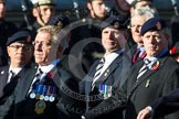 Remembrance Sunday at the Cenotaph in London 2014: Group A23 - Royal East Kent Regiment (The Buffs) Past & Present Association. Press stand opposite the Foreign Office building, Whitehall, London SW1, London, Greater London, United Kingdom, on 09 November 2014 at 12:04, image #1360