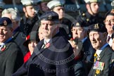 Remembrance Sunday at the Cenotaph in London 2014: Group A23 - Royal East Kent Regiment (The Buffs) Past & Present Association. Press stand opposite the Foreign Office building, Whitehall, London SW1, London, Greater London, United Kingdom, on 09 November 2014 at 12:04, image #1362