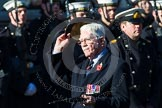 Remembrance Sunday at the Cenotaph in London 2014: Group A25 - Duke of Wellington's Regiment. Press stand opposite the Foreign Office building, Whitehall, London SW1, London, Greater London, United Kingdom, on 09 November 2014 at 12:04, image #1374