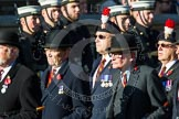 Remembrance Sunday at the Cenotaph in London 2014: Group A26 - Royal Hampshire Regiment Comrades Association. Press stand opposite the Foreign Office building, Whitehall, London SW1, London, Greater London, United Kingdom, on 09 November 2014 at 12:04, image #1381