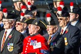 Remembrance Sunday at the Cenotaph in London 2014: Group A27 - Royal Northumberland Fusiliers. Press stand opposite the Foreign Office building, Whitehall, London SW1, London, Greater London, United Kingdom, on 09 November 2014 at 12:04, image #1385