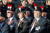 Remembrance Sunday at the Cenotaph in London 2014: Group A27 - Royal Northumberland Fusiliers. Press stand opposite the Foreign Office building, Whitehall, London SW1, London, Greater London, United Kingdom, on 09 November 2014 at 12:04, image #1389
