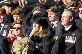 Remembrance Sunday at the Cenotaph in London 2014: Group A34 - The Duke of Lancaster's Regimental Association. Press stand opposite the Foreign Office building, Whitehall, London SW1, London, Greater London, United Kingdom, on 09 November 2014 at 12:05, image #1444