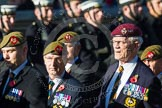 Remembrance Sunday at the Cenotaph in London 2014: Group A34 - The Duke of Lancaster's Regimental Association. Press stand opposite the Foreign Office building, Whitehall, London SW1, London, Greater London, United Kingdom, on 09 November 2014 at 12:05, image #1448