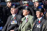 Remembrance Sunday at the Cenotaph in London 2014: Group A35 - Queen's Own Highlanders Regimental Association. Press stand opposite the Foreign Office building, Whitehall, London SW1, London, Greater London, United Kingdom, on 09 November 2014 at 12:06, image #1451