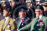Remembrance Sunday at the Cenotaph in London 2014: Group A35 - Queen's Own Highlanders Regimental Association. Press stand opposite the Foreign Office building, Whitehall, London SW1, London, Greater London, United Kingdom, on 09 November 2014 at 12:06, image #1454
