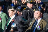 Remembrance Sunday at the Cenotaph in London 2014: Group A35 - Queen's Own Highlanders Regimental Association. Press stand opposite the Foreign Office building, Whitehall, London SW1, London, Greater London, United Kingdom, on 09 November 2014 at 12:06, image #1456